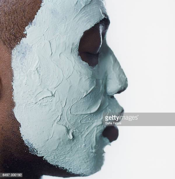 Profile of Man with Face Mask