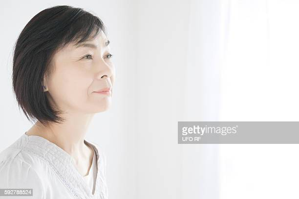 Profile of Mature woman