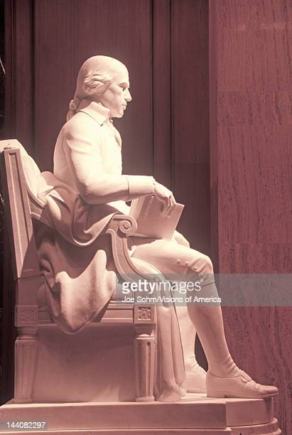 Profile of statue of James Madison father of the US Constitution Library of Congress Washington DC