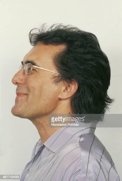 Profile of the smiling italian singer Al Bano born Albano Carrisi Italy 1989