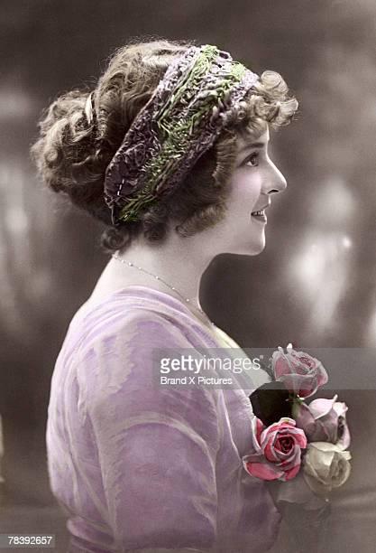 profile of victorian woman - 1900~1909年 ストックフォトと画像