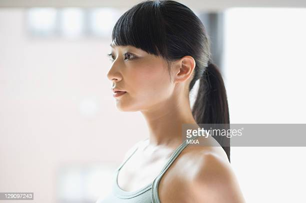 Profile of Woman with Ponytail