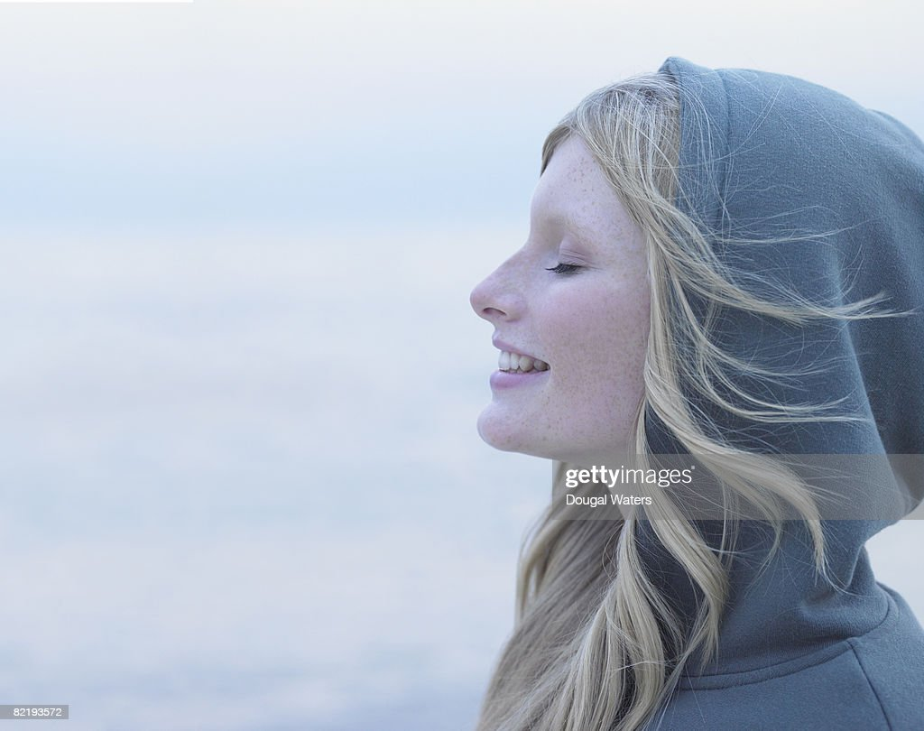 Profile of young  : Stock Photo
