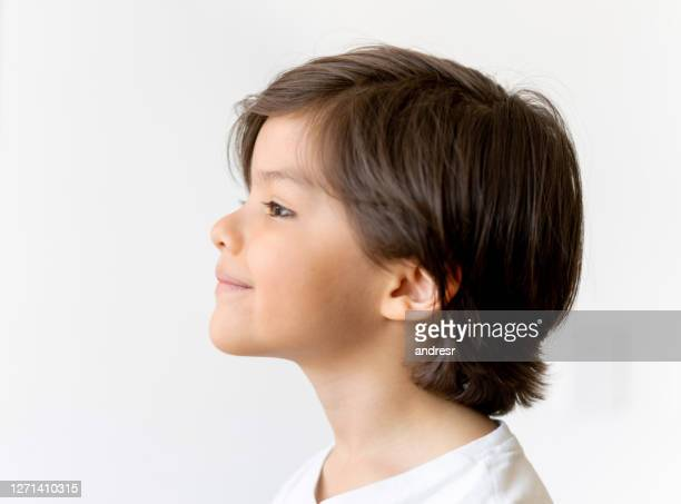 profile portrait of a cute latin american boy - profile stock pictures, royalty-free photos & images