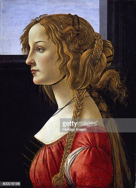 Profile Portrait of a Young Woman ca 1476 Found in the collection of Staatliche Museen Berlin Artist Botticelli Sandro