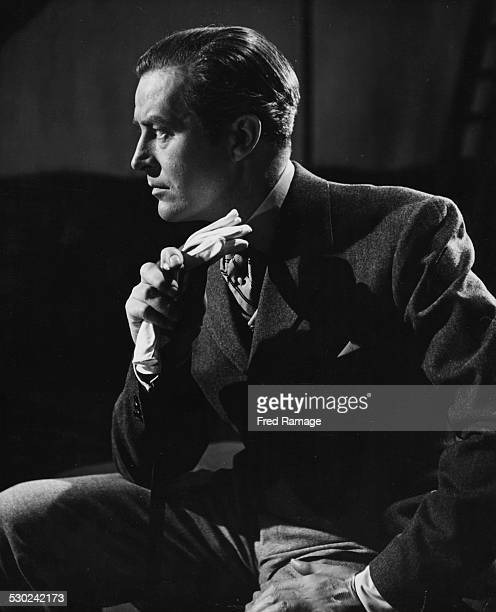 Profile portrait of actor Ray Milland as he appears in the film 'So Evil My Love' circa 1948