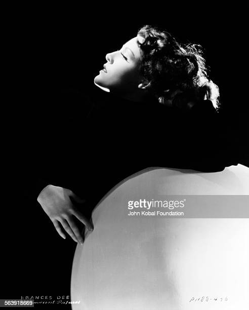 Profile portrait of actress Frances Dee leaning back for Paramount Pictures 1932