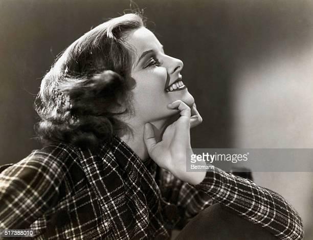 Profile portrait of actress Katharine Hepburn Undated publicity photograph