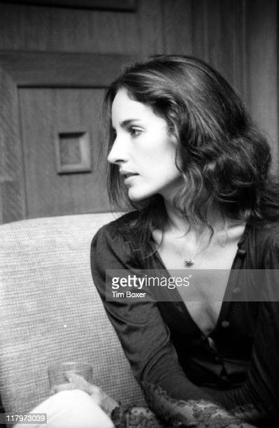 Profile portrait of American actress and singer Andrea Marcovicci as she attends a screening of her film 'The Front' New York New York September 1976