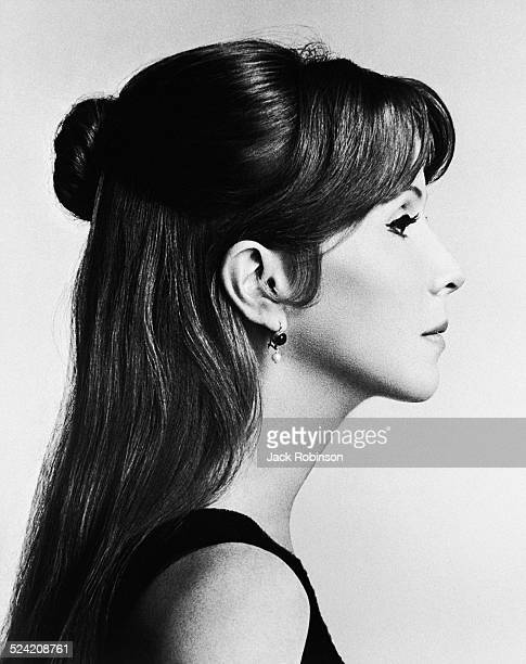 Profile portrait of American actress Julie Harris New York New York July 1966