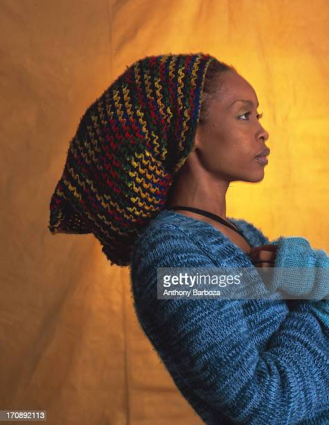 Profile portrait of American RB jazz and pop singer Erykah Badu New York 2000