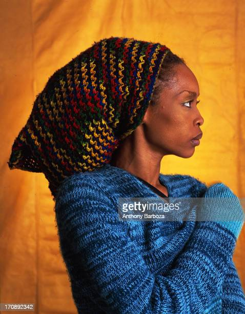 Profile portrait of American RB jazz and pop singer Erykah Badu New York 2000