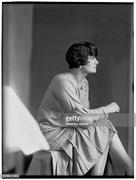 Profile portrait of French fashion designer Coco Chanel 1920s