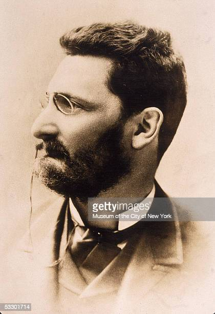 Profile portrait of Hungarianborn journalist Joseph Pulitzer publisher of the St Louis PostDispatch and the New York World newspapers 1880s In his...