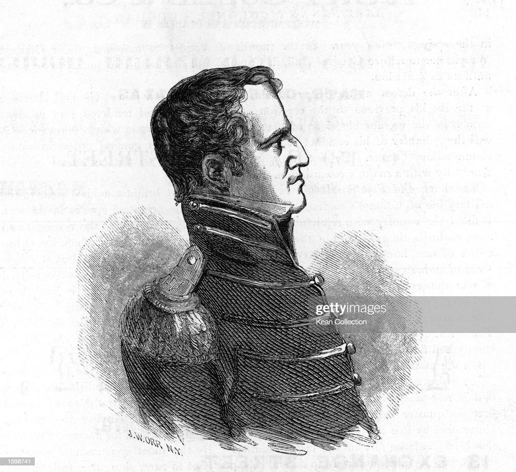 Profile portrait of Lieutenant Colonel George Croghan (1791 1849) in  uniform, c.