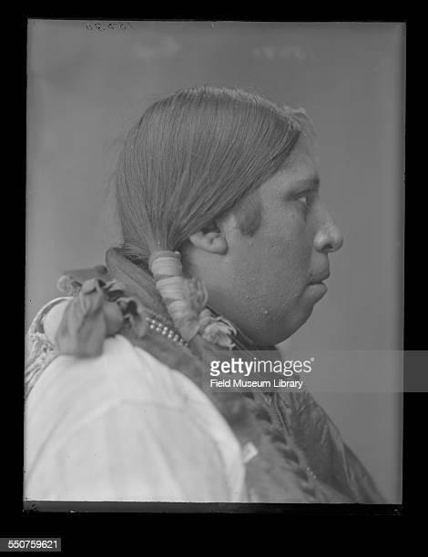 Profile portrait of Native American Wichita man Grundy Wheeler aged 25 at the Louisiana Purchase Exposition St Louis Missouri June 6 1904