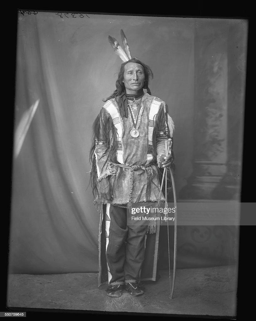 Profile portrait of One Star, a Native American Dakota Sioux