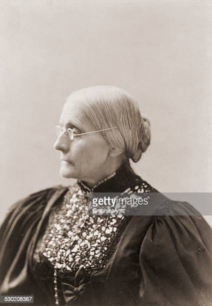 Profile portrait of Susan B Anthony near the end of her life by Mrs L Condon c 18901906