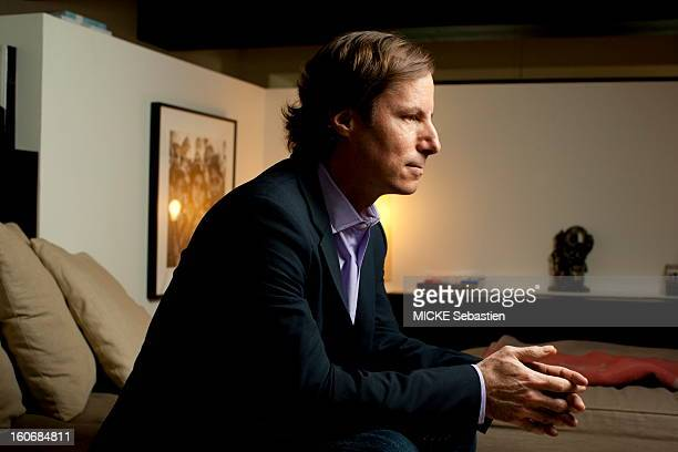 Profile shot of Andrew MADOFF son of Bernard MADOFF posing sitting in the apartment of a friend NEW YORK facing Wall Street He told his truth and...