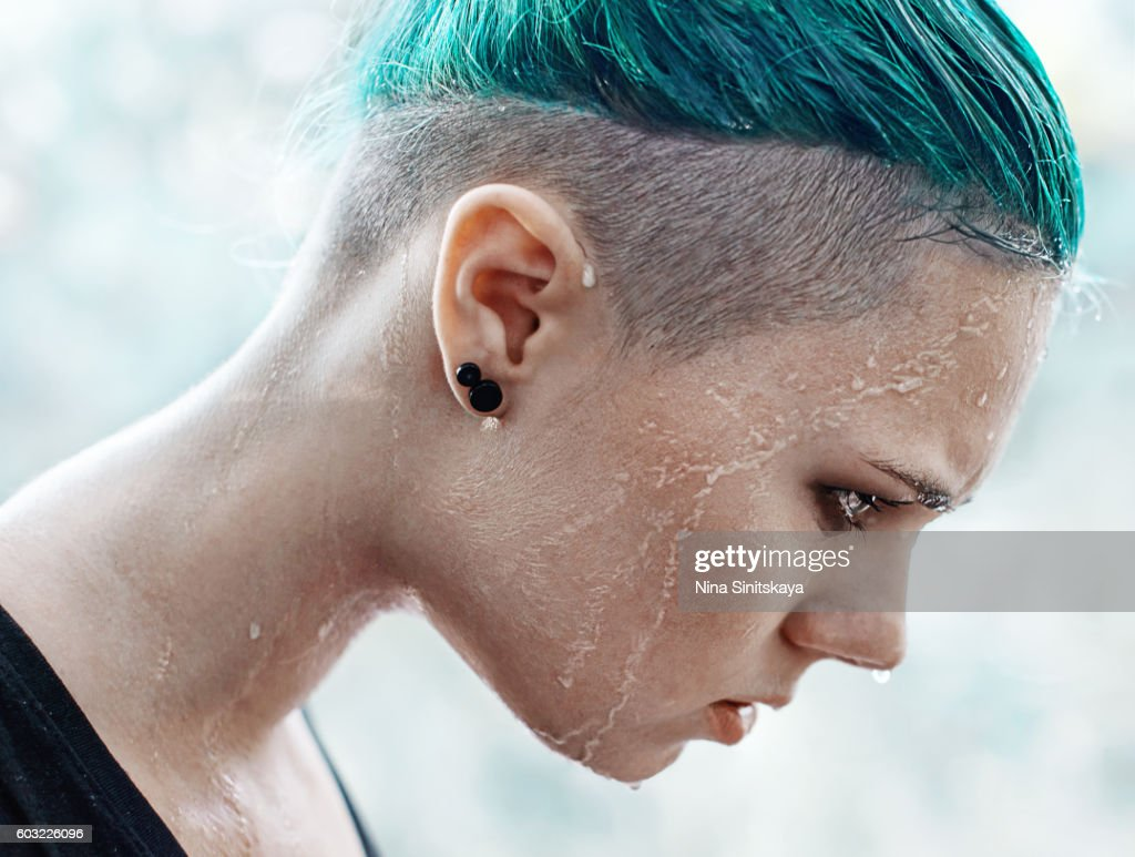 profile shot of angry woman crying stock photo getty images