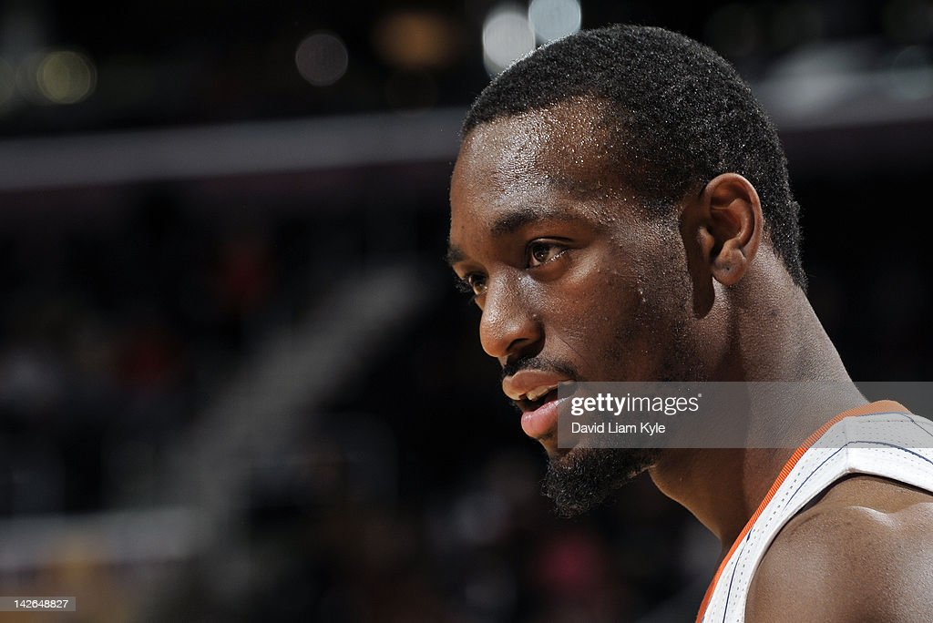 Profile shot of Kemba Walker #1 of the Charlotte Bobcats during a break in the action against the Cleveland Cavaliers at The Quicken Loans Arena on April 10, 2012 in Cleveland, Ohio.