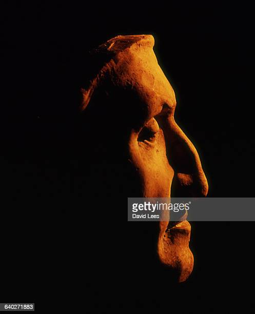 A profile view of a life mask made of the Italian poet Dante | Located in Palazzo Vecchio