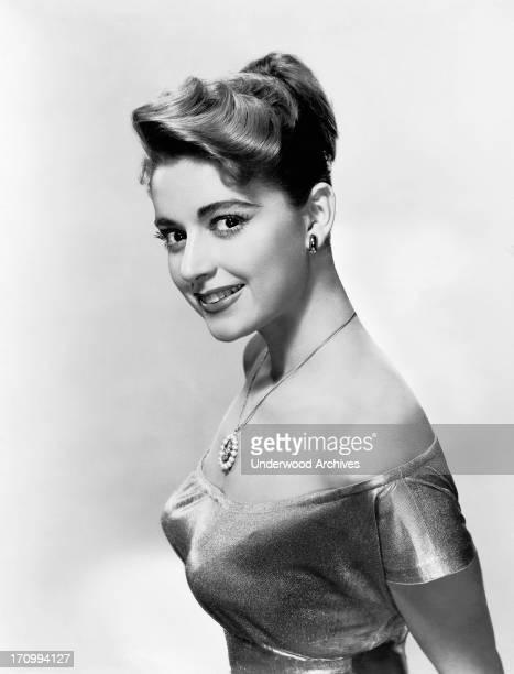 A profile view of actress Anna Maria Alberghetti Hollywood California 1958