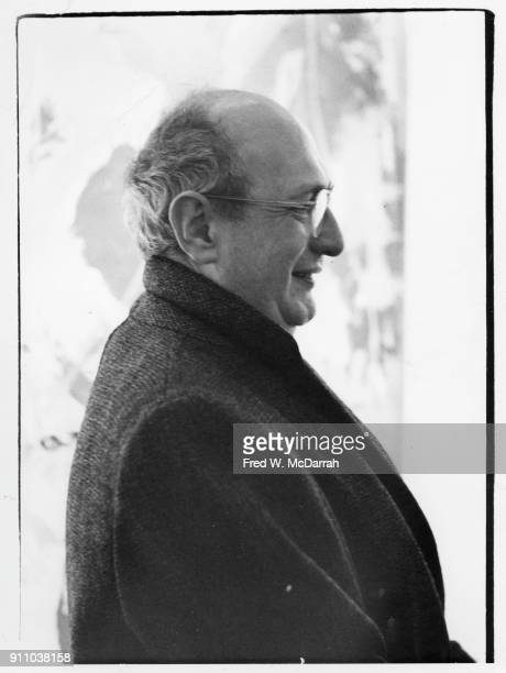 Profile view of Latvianborn American painter Mark Rothko as he attends an exhibition at Sidney Janis Gallery New York New York March 6 1961