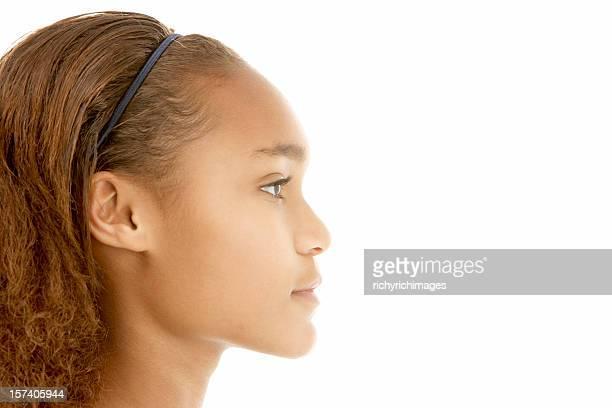 Profile View Of Teenage Girl