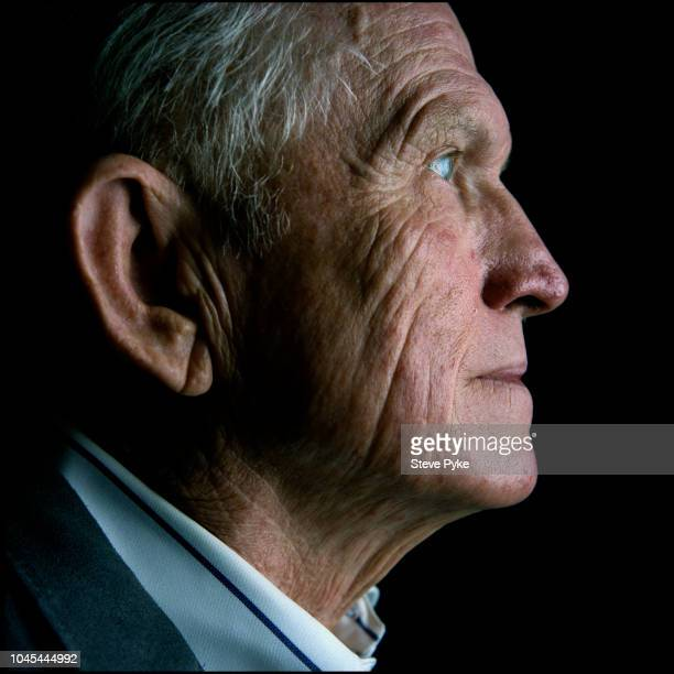 Profile view of United States Air Force pilot aeronautical engineer test pilot and NASA astronaut Frank Borman Las Cruces New Mexico US 26th October...