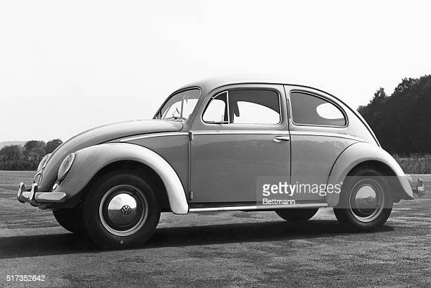 Profile view of Volkswagen Bug/Beetle automobile Undated photograph