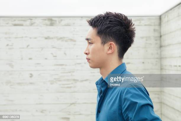 profile view of young man  - 横顔 ストックフォトと画像