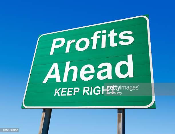 Profits Ahead Highway Exit Sign