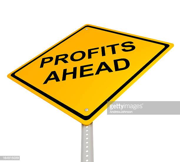 profits ahead - give way stock pictures, royalty-free photos & images
