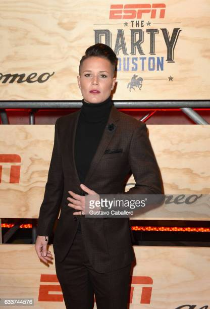 Profossional soccer player Ashlyn Harris attends the 13th Annual ESPN The Party on February 3 2017 in Houston Texas