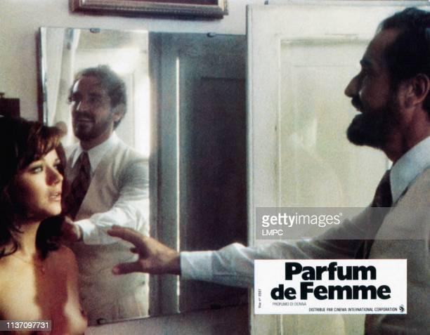 Profumo Di Donna lobbycard from left Agostina Belli Vittorio Gassman 1974