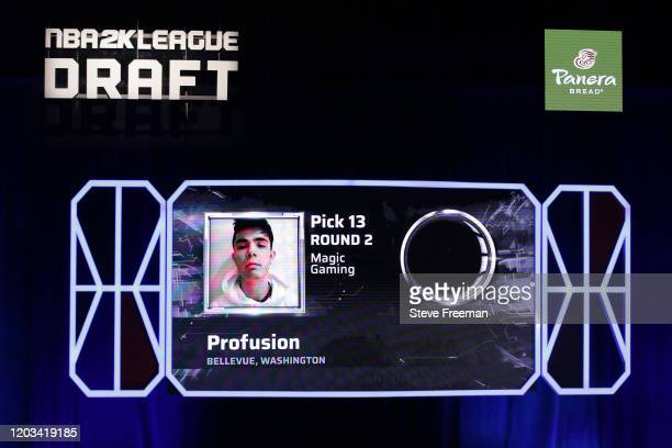 Profusion gets picked during the NBA 2K League Draft on February 22 2020 at Terminal 5 in New York New York NOTE TO USER User expressly acknowledges...