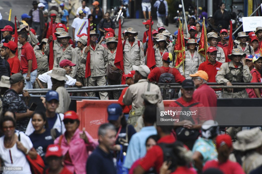 VEN: President Nicolas Maduro Holds Rally In Front Of Miraflores Palace