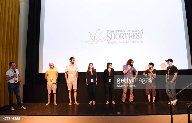 Program coordinator at the Palm Springs International ShortFest Robbie Huddleston directors Paul Franki and Eric Rockey writer Melissa Hoppe director...