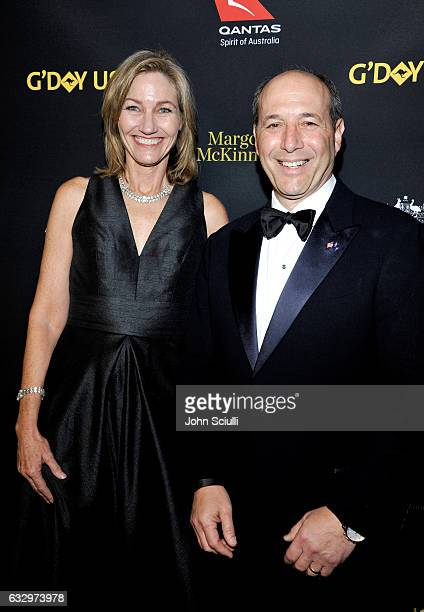 Program Director G'Day USA Erin Gray and United States Ambassador to Australia Jeffrey L Bleich attend the 2017 G'Day Black Tie Gala at Governors...