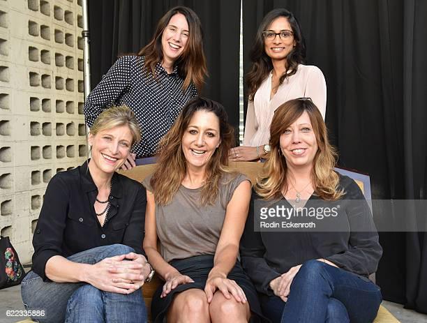 Program Director Tessa Blake, filmmaker Amy Barrett, filmmaker Gillian Barnes, filmmaker Manjari Makijany, and Executive Director of Women in Film...