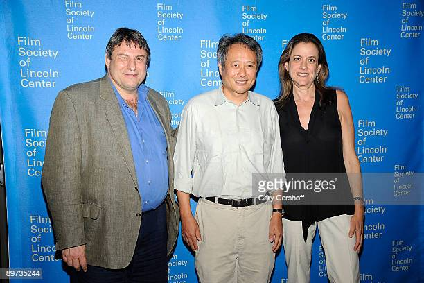 Program director The Film Society of Lincoln Center Richard Pena director Ang Lee and executive director Film Society of Lincoln Center Mara Manus...