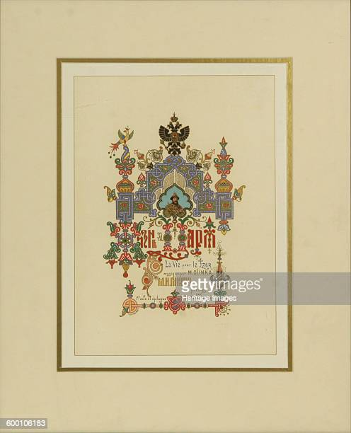 Program for the opera A Life for the Tsar by M Glinka Private Collection Artist Ropet Ivan Pavlovich