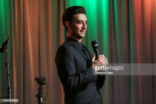 Program Manager of Community Engagement for the GRAMMY Museum Adam LeBow introduces Award Presentation Performance for GRAMMY Museum Signature...