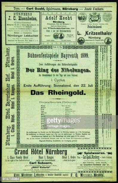 Program of the Bayreuth Festival 1899 Private Collection