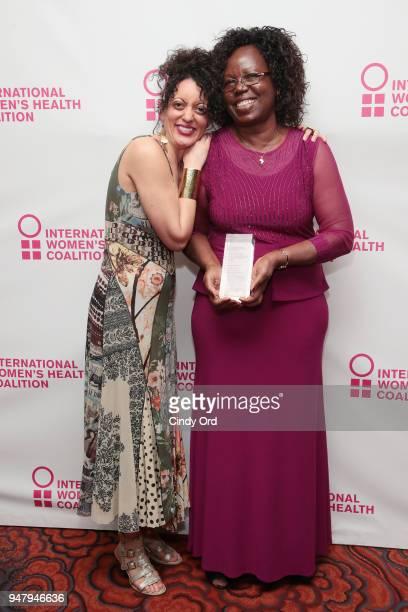 Program Officer at the International Women's Health Coalition Erin Williams and recipient of the 2018 Joan B Dunlop award Monica Oguttu attend the...