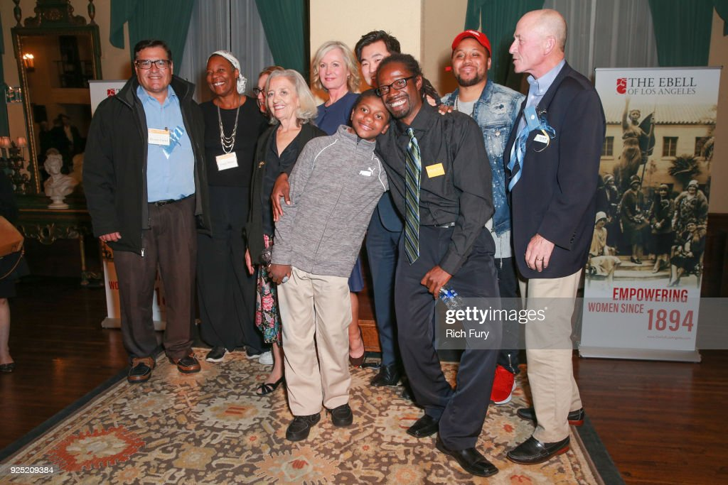 Program speakers attend the Stories From The Front Line charity program at the Ebell of Los Angeles on February 27, 2018 in Los Angeles, California.