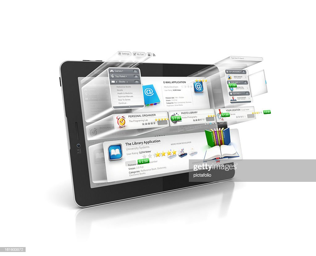 Programing and Building Software of tablet : Stock Photo