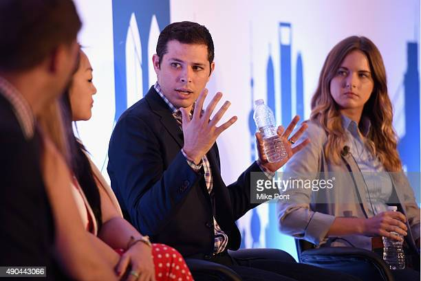 Programmatic at xAd Jeffrey Goldstein and Head of Publisher Development Virool Sonja Kristiansen speak onstage at the Seizing the Mobile Moment...