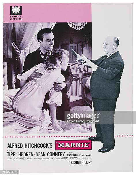 A US programme for the 1964 psychological thriller 'Marnie' directed by Alfred Hitchcock and starring Tippi Hedren and Sean Connery
